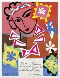 madame de pompadour. werbeplakat für den bal de l'ecole des arts décoratifs im pavillon de marsan, paris by henri matisse