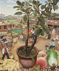 the weeds beach - two sides of the garden by chen shuzhong