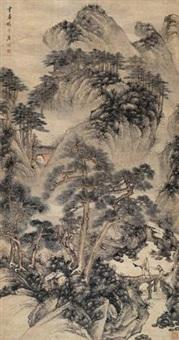 深山幽居 (landscape) by luo mu (lo mou)