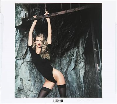standing model from the wolford portfolio by helmut newton