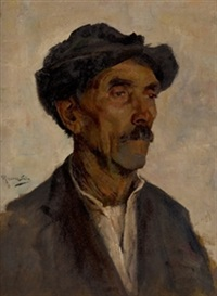 retrato de campesino by ventura alvarez sala