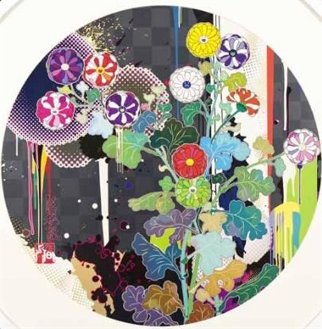 with reverence i lay myself before you korin chrysanthemum by takashi murakami