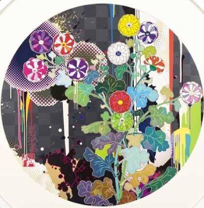 with reverence i lay myself before you korin chrysanthemum by takashi murakami