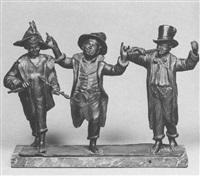 piedigrotta (tre giovani suonatori) by tommaso campaiola