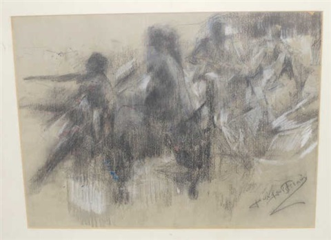 multiple figures by jean louis forain