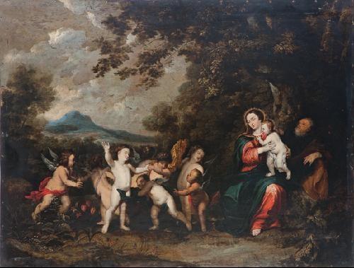 el regreso de la huida a egipto by sir peter paul rubens