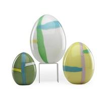 eggs with murrines (3 works) by lino tagliapietra