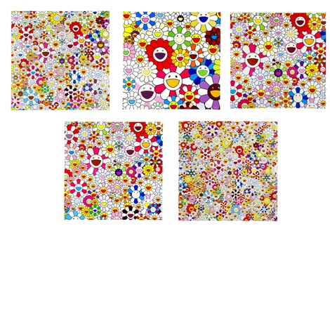 flower blooming 5 works by takashi murakami