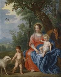 die heilige familie mit dem johannesknaben und dem lamm by jan brueghel the younger and peeter van avont