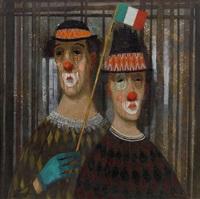 två italienska clowner by pelle aberg