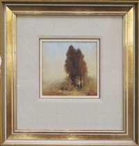 stand of trees by jesse jewhurst hilder