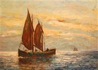voilier en mer by jean-paul jungo