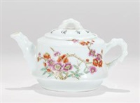 粉彩花卉图执壶 (famille-rose ewer with flowers pattern) by xu yafeng