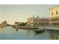 venice canal scene by eugenio benvenuti