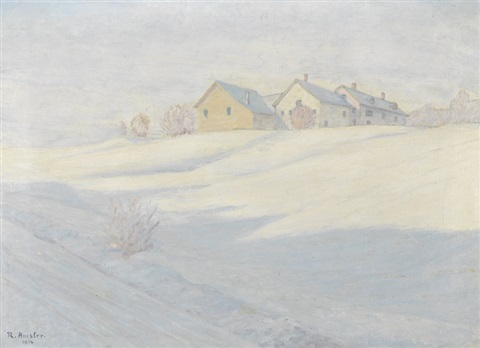 winterlandschaft mit dorf by richard emil amsler