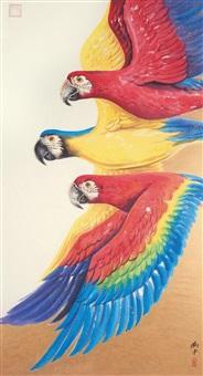三英图 (parrots) by liu zhong