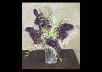 dark purple lilas and orchid by kinoshita yoshinori