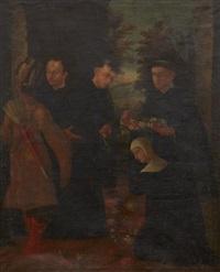 missionerande jesuiter, möjligen francis xavier by peruvian school-cuzco (18)