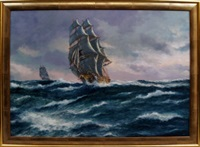 the us clipper ship staffordshire, the queen clipper packet of the atlantic by john bentham-dinsdale