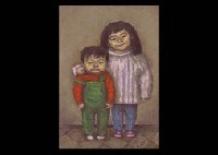 winter, sister and brother by masayoshi aigasa