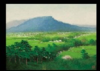 landscape of mt. unebi by takashi asahina