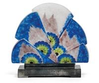 kleine lampe à éventail de fleurs by gabriel argy-rousseau
