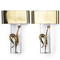 rooster sconces (pair) by charles et fils