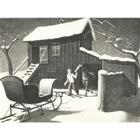 december afternoon by grant wood
