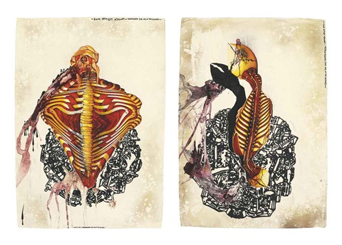traumanama (the cry of the gland) (2 works) by jitish kallat