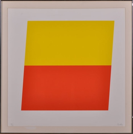 yellow red orange by ellsworth kelly