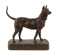 great dane by alfred barye