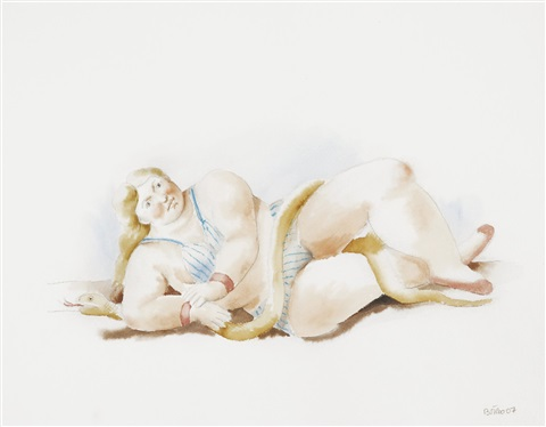 la femme au serpent by fernando botero