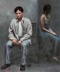 隐在暗处的女人 (woman in shade) by yuan zhengyang