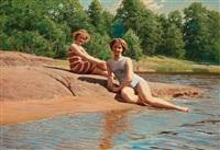 bathers by johan fredrik krouthen
