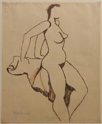 proud nude by milton avery