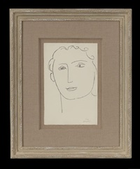 female face by henri matisse