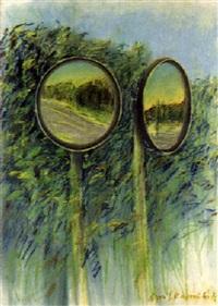 landschaft mit spiegeln by max kaminski