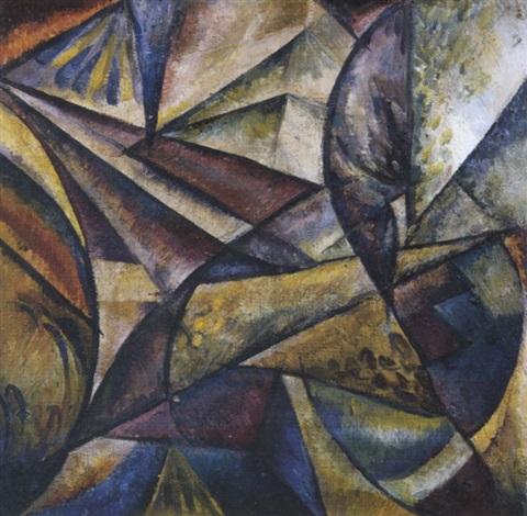 abstrakte komposition by aleksandr konstantinovich bogomazov