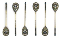 tea spoons (set of 6) by matryena andreyevna