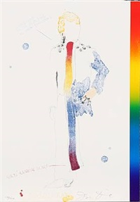 dorian gray with rainbow scarf (from the picture of dorian gray) by jim dine