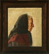 fischerman's wife by helga ancher