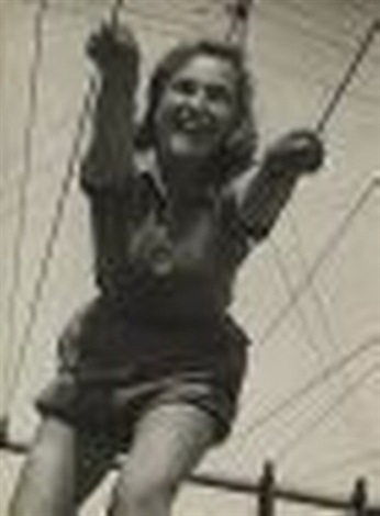 woman on a swing palestine by walter zadek