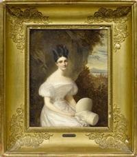 portrait d'adélaïde hippolyte octavie (dite adèle) née céard by firmin massot