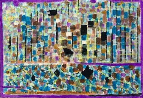 paysage bleu composition 318 by roger bissière