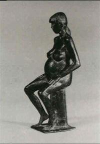 sitzendes schwangere by christian höpfner