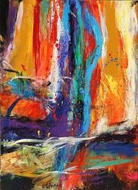 bevidsthedsspejl - den der ser ind i dette spejl lever evigt (triptych) by rolf gjedsted