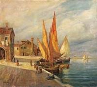 barche all'ormeggio a chioggia by sorgiani