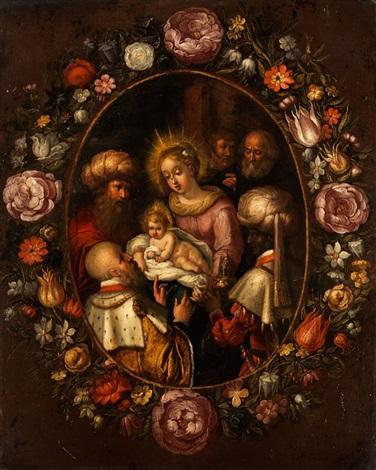 anbetung der könige im blütenkranz by frans francken the younger
