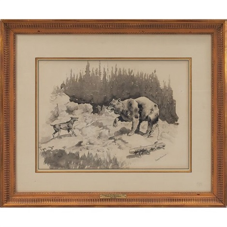 trapped in the wilderness by frederic remington