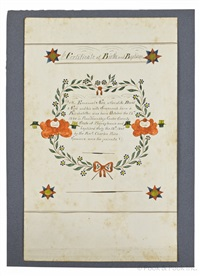 birth and baptismal certificate for emanuel nies by henry young